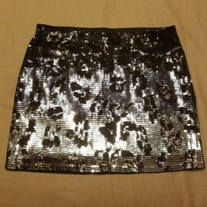 Express Black Ombre Sequins Skirt - size XS